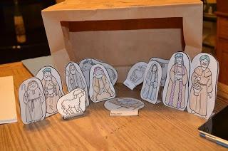 Paper Bag Manger Scene | Education - Bible Study | Pinterest