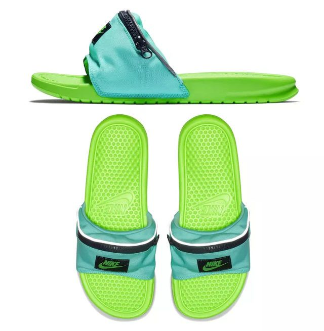 be0f3582491 Nike Benassi JDI Fanny Pack Men s Slide - Features a soft foam sole for  plush