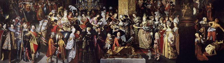 Bartholomeus Strobel the Younger (1591 –1650). Feast of Herod with the Beheading of St John the Baptist, almost 10 metres wide; crypto-portrait, Michael the Brave as Herod.