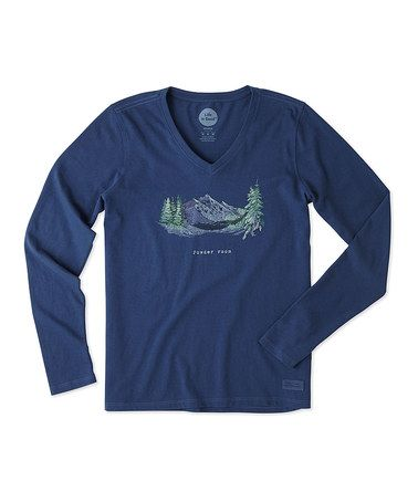 Best Place Sale Online Clearance Genuine Womens California Golden Bears Stay True Long Sleeve Cool Vee XXL Darkest Blue Life is good Cheap Fashion Style Limited Edition Online jf7ff