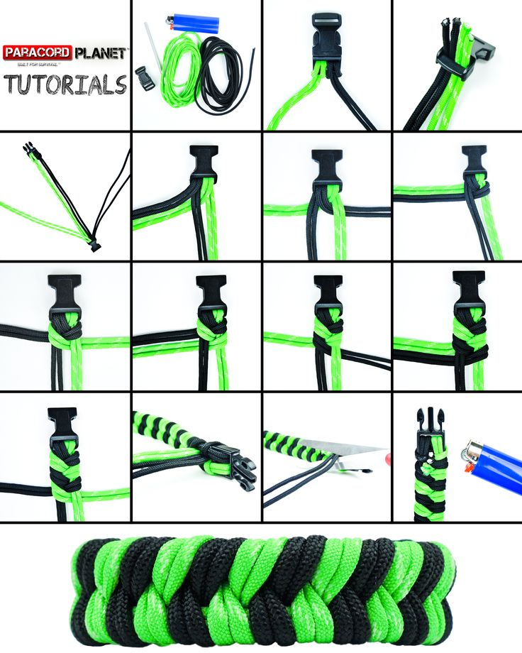 "#ParacordChallenge---Level of Difficulty: Easy!! This week's paracord tutorial is for the ""Double Fishtail Weave."" Grab some cord, and give it a shot yourself. You will love the way this turns out. Happy Cording."