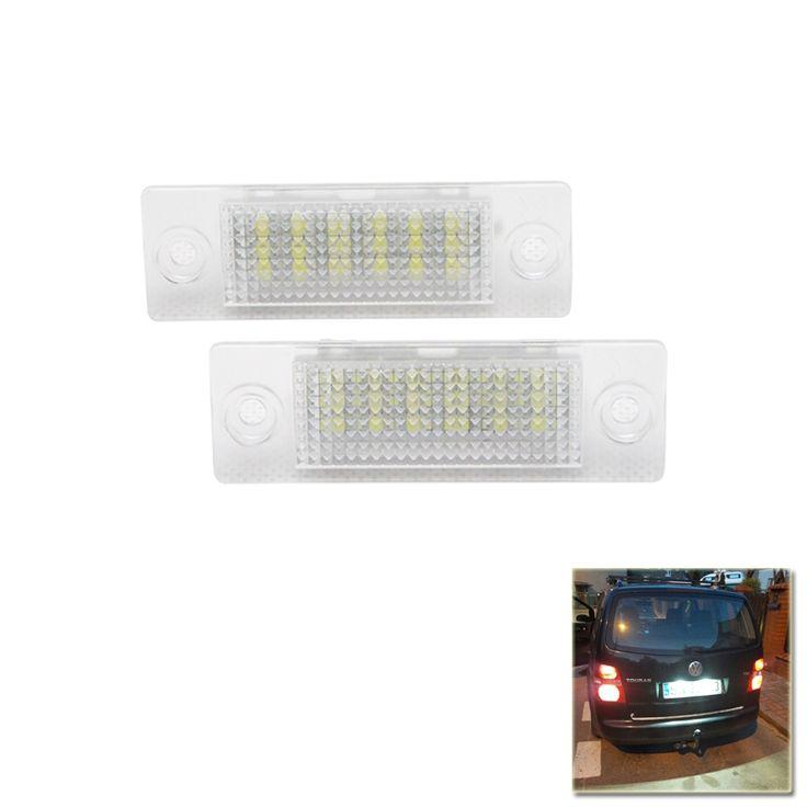 Best Quality Xenon White 18 SMD Car License Plate Light For Volkswagen VW Jetta Caddy Touran 1T SKODA Superb MK1 3U B5 Golf Plus