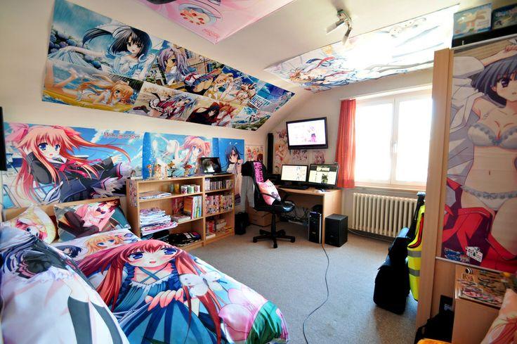 otaku pride decorating in nerdy anime style anime merchandise