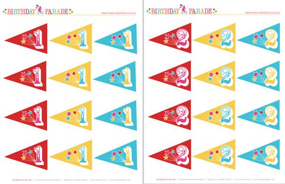 Decoración de papel para un cumpleaños de circo