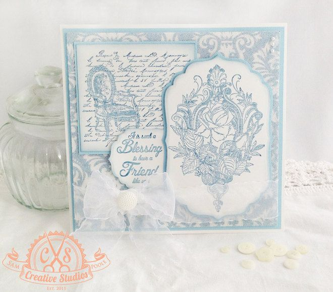 Created with 'Shabby Chic Frame' rubber stamps designed by Sam Poole