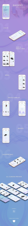 FREE PSD E-commerce mobile app UI/UX on Behance