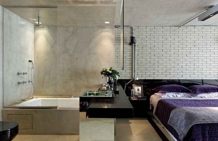 """10 - Pinte paredes e teto de uma só cor. Para dar um ar contemporâneo ao apartamento, pinte de uma cor só a parede e o teto. """"A ideia de uma caixa monocromática combina com espaços pequenos, que costumam ter decoração mais limpa"""", opina Diego."""