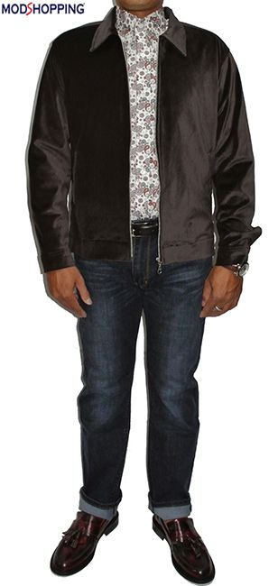 Modshopping - 1960's SUEDE CHOCOLATE BROWN BOMBER JACKET , £89.00 (http://www.modshopping.com/1960s-suede-chocolate-brown-bomber-jacket/)