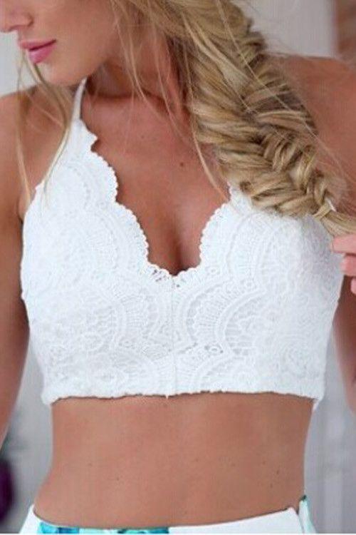 Lace Bralette Crop Top
