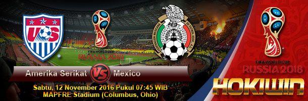 Prediksi USA vs Mexico, Preview Pertandingan Amerika Serikat vs Meksiko, Bursa Pasaran Bola Amerika Serikat vs Mexico, Pertandingan Amerika Serikat vs Mexico dijadwalkan akan digelar Pada Hari Sabtu, 12 November 2016 Pukul 07:45 WIB bertempat di MAPFRE Stadium (Columbus, Ohio) live on Fox Sports 1.