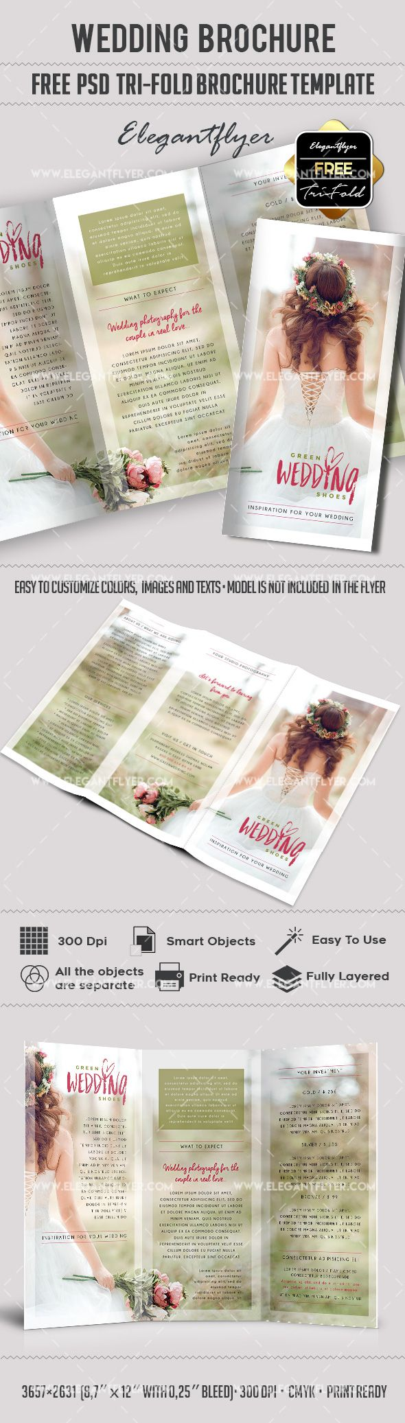 Best Free Brochure Templates Images On Pinterest Brochures - Wedding brochures templates free