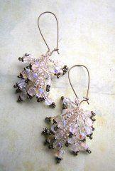 Tassel Earrings - Bronze Tipped Crystal