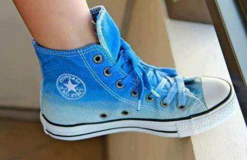 Blue converse- blue is fav color so YAS