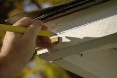 DIY gutter installation. because not all houses come with them.