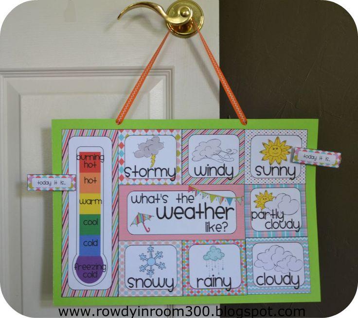Rowdy in Room 300: Weather chart!: Classroom Idea, Room 300, Classroom Freebies, Teaching, Weather Charts, Weatherchart, Free Printable, Kid