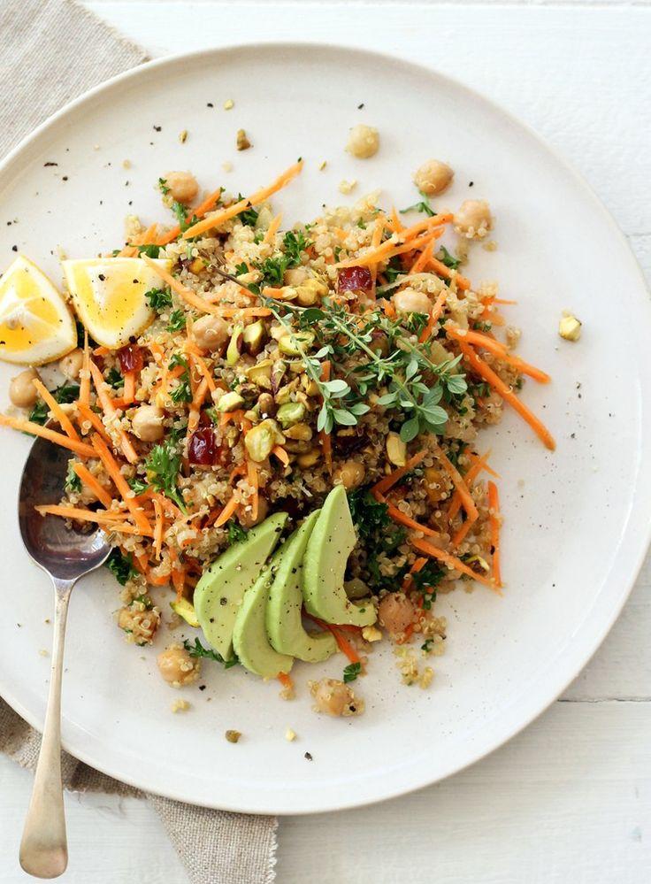 Moroccan Carrot, Quinoa and Chickpea Salad