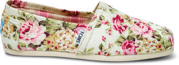 It's Almost Spring! Get Your Wardrobe Ready With These Adorable Toms x Shabby Chic Shoes!