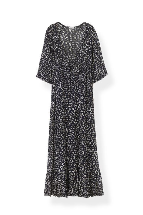 Newman Georgette Maxi Dress, Total Eclipse
