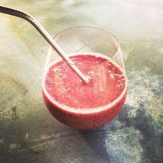 Kourtney Kardashian's Morning Shake Recipe  Raspberries, blueberries, Manuka honey, fresh and pure whey, ground flaxseed meal, chia seeds, [and] rose water