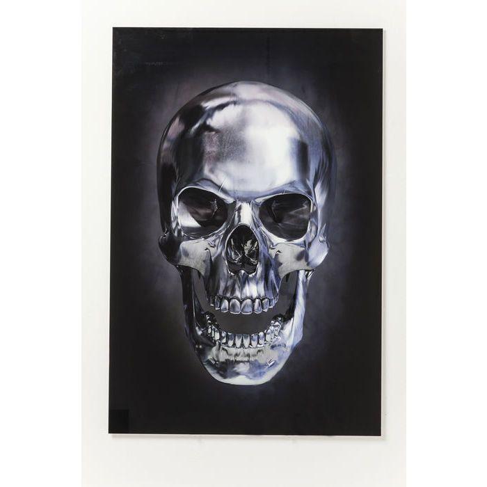 Πίνακας Glass Skull 120x80cm  €190