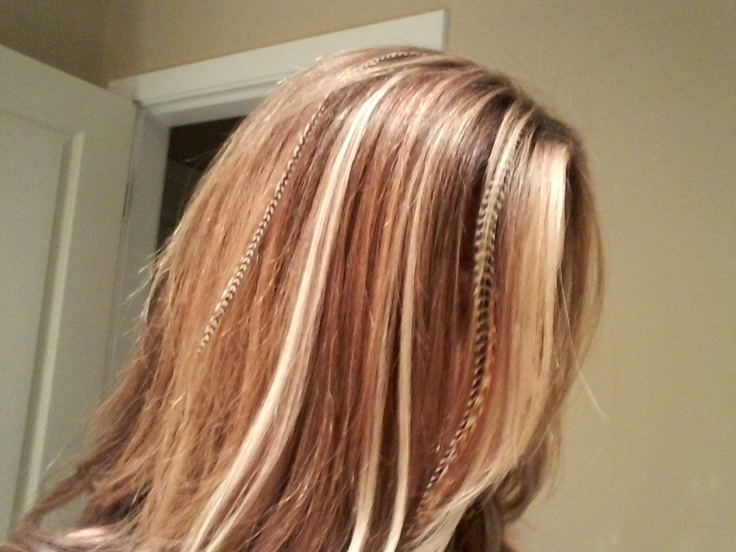 Hair extension highlights get a perfect highlight with a few hair extension highlights get a perfect highlight with a few hair extensions the bonus they dont take long to put in they dont damage your o pmusecretfo Image collections