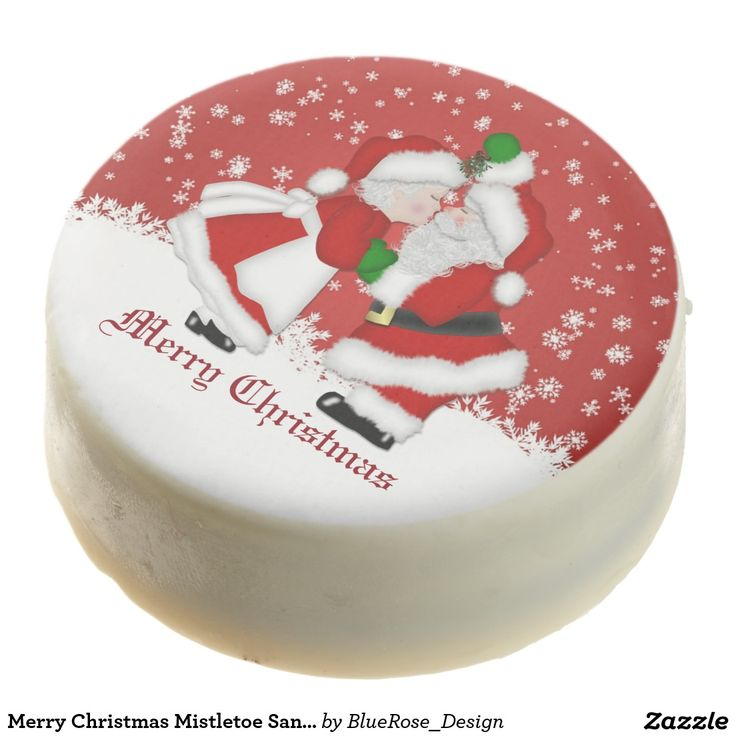 Merry Christmas Mistletoe Santa Oreo Cookies Chocolate Dipped Oreo