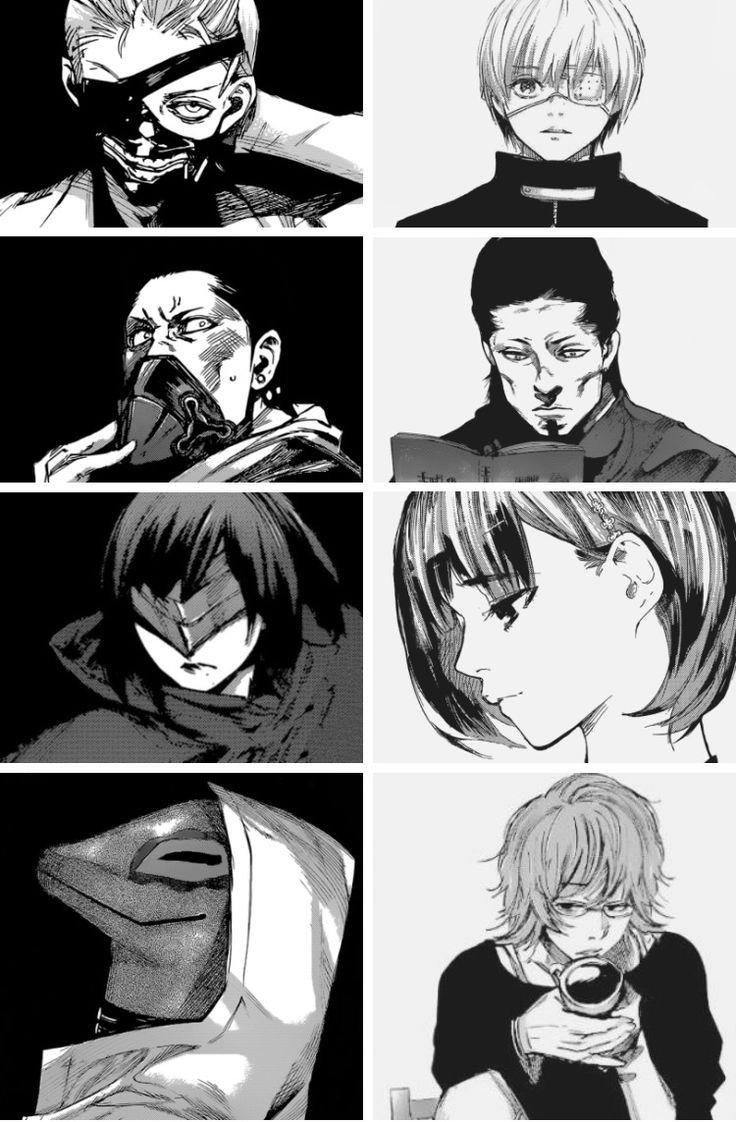 Kaneki Ken, Banjou Kazuichi, Hinami Fueguchi, Nishiki Nishio | Tokyo Ghoul Masks