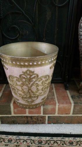 потертый старинный винтажный флорентийский корзина для мусора сделано в Италии итальянский французский золото in Антиквариат, Декоративное искусство, Роспись по металлу | eBay