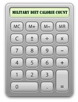 How many calories on the Military Diet?