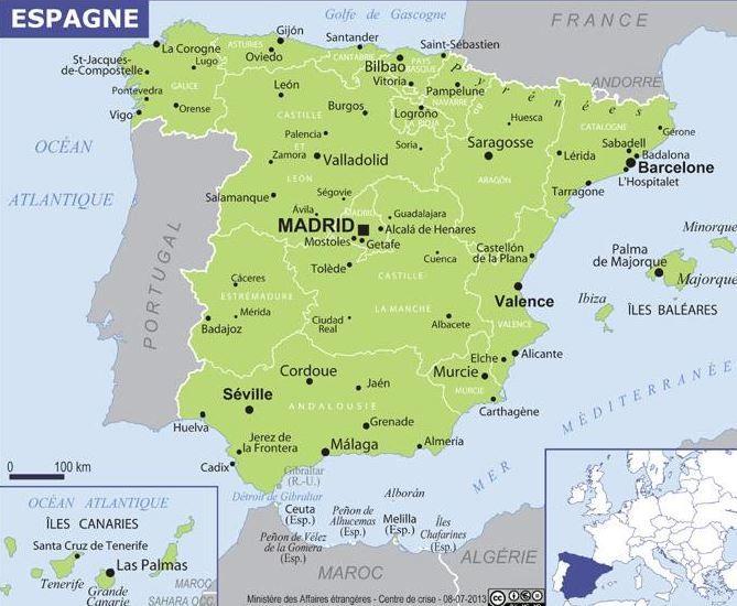 Épinglé par Lgonzalezp sur España en 2020 | Espagne carte, Espagne, Ambassade de france