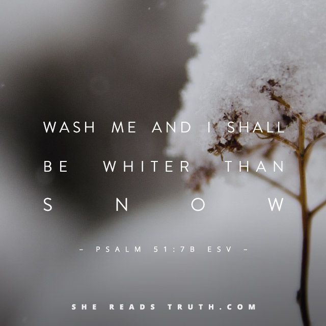 Repent and God will renew a right spirit within you. He will wash you whiter than snow. The triune God breathes life into our sin-gripped hearts, freeing us from sin's bondage with His forgiveness that transforms us from the inside out. ~SRT