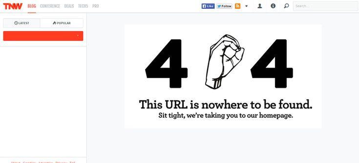The Next Web 404 error page