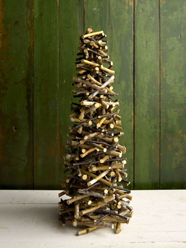 a christmas tree made of twigs christmas ideas pinterest