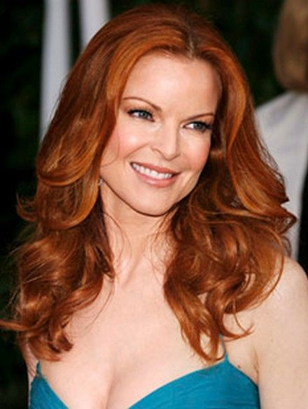 Marcia Cross Long and Red Color Hairstyle