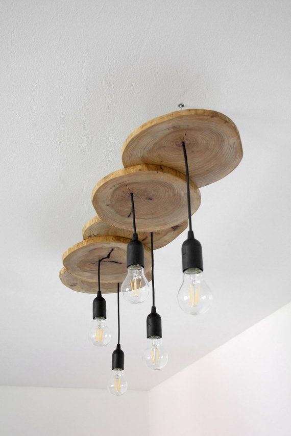 Wooden Pendant Light Field Maple Slices Wooden Ceiling Wood