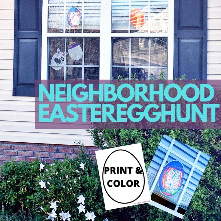 Put Together A Neighborhood Easter Egg Hunt While Social Distancing Easter Egg Hunt Easter Egg Activities Egg Hunt