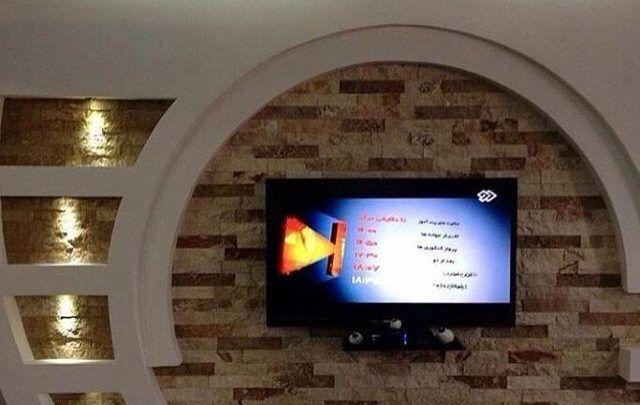 ديكور مكتبات جبس بورد مودرن لشاشات تلفزيون Flat Screen Decor Flatscreen Tv