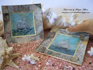 I Sentieri dell'Arte: Decorazione: Piatti OCEANO, sottovetro con oro, e orologio da parete con 3d e pittura provenzale - country