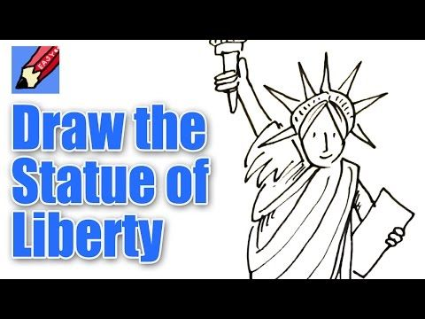 How to Draw the Statue of Liberty Real Easy - YouTube