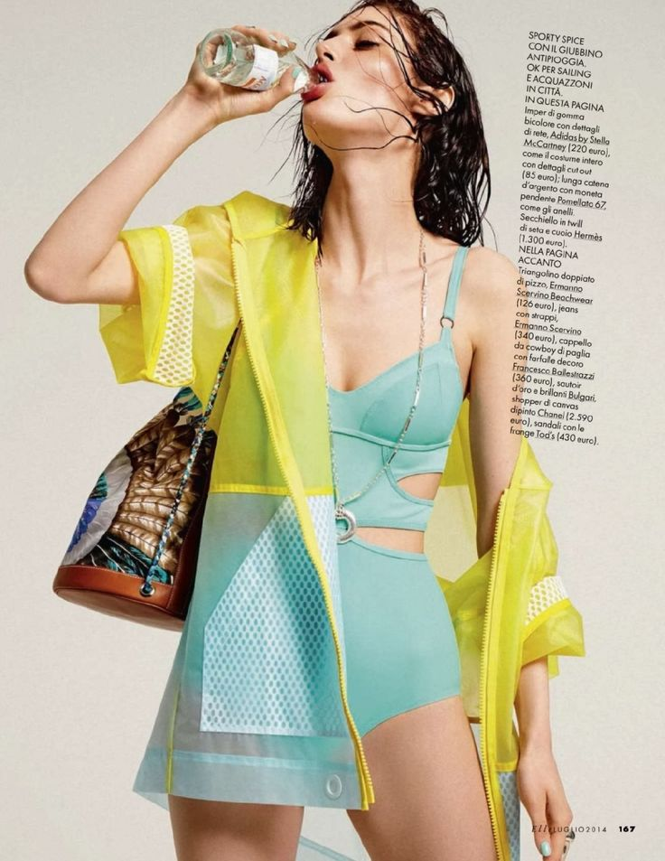 Elle Italy Editorial July 2014 - Maud Le Fort by Mark Pillai