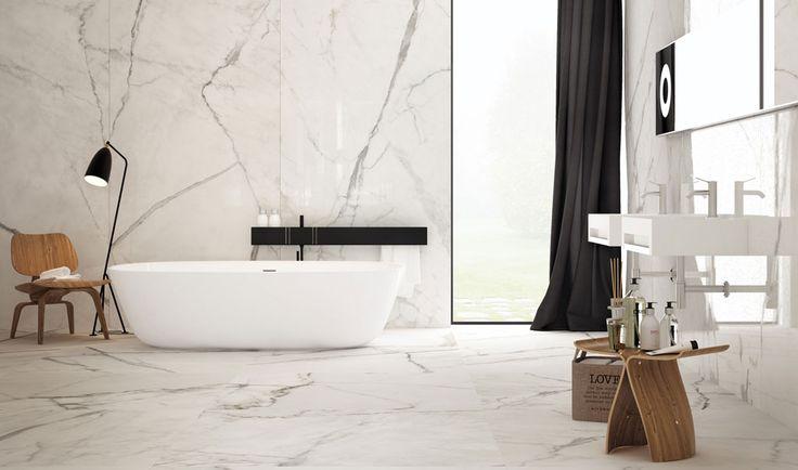 Marmor på badet er elegant, tidløst og supertrendy! #Marmor #baderom #fliser #klassisk #trend #skogr