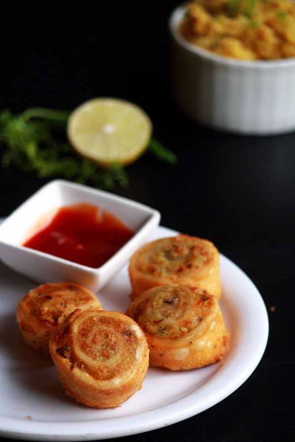 samosa pinwheels, how to make samosa pinwheels recipe
