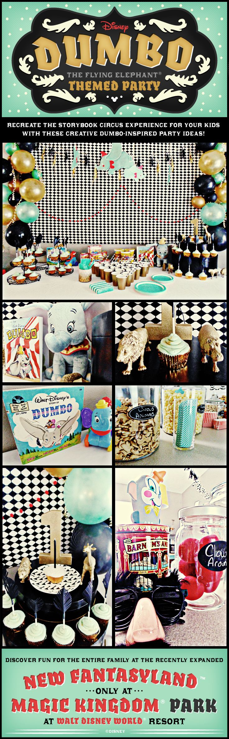 Dumbo the Flying Elephant themed party ideas! #waltdisneyworld #diy