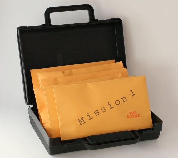 One Time Mailing of Six Top Secret Agent Spy Missions with Briefcase -- Ultimate Science Spy Kit on Etsy, $75.00