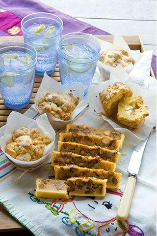 Creamy feijoa custard shortcakes