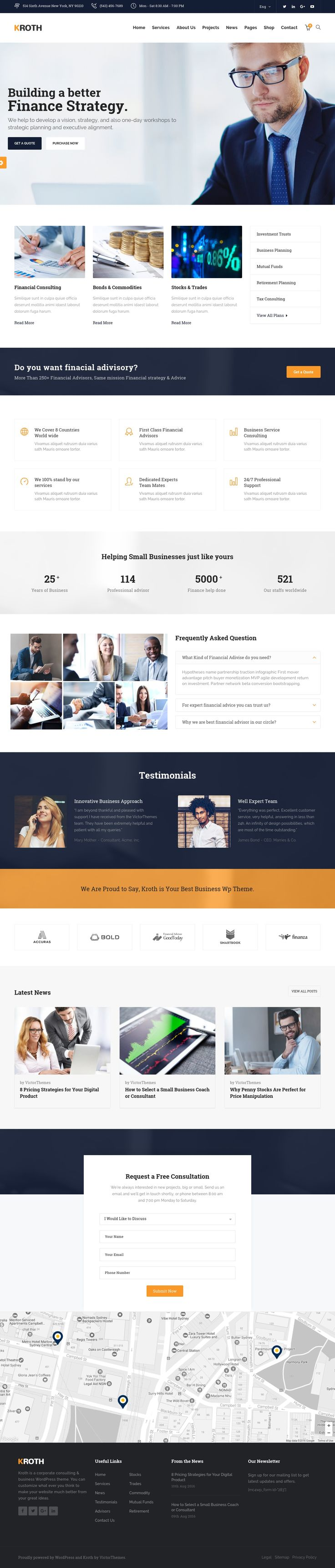 Kroth Business or Consulting WordPress Theme Review