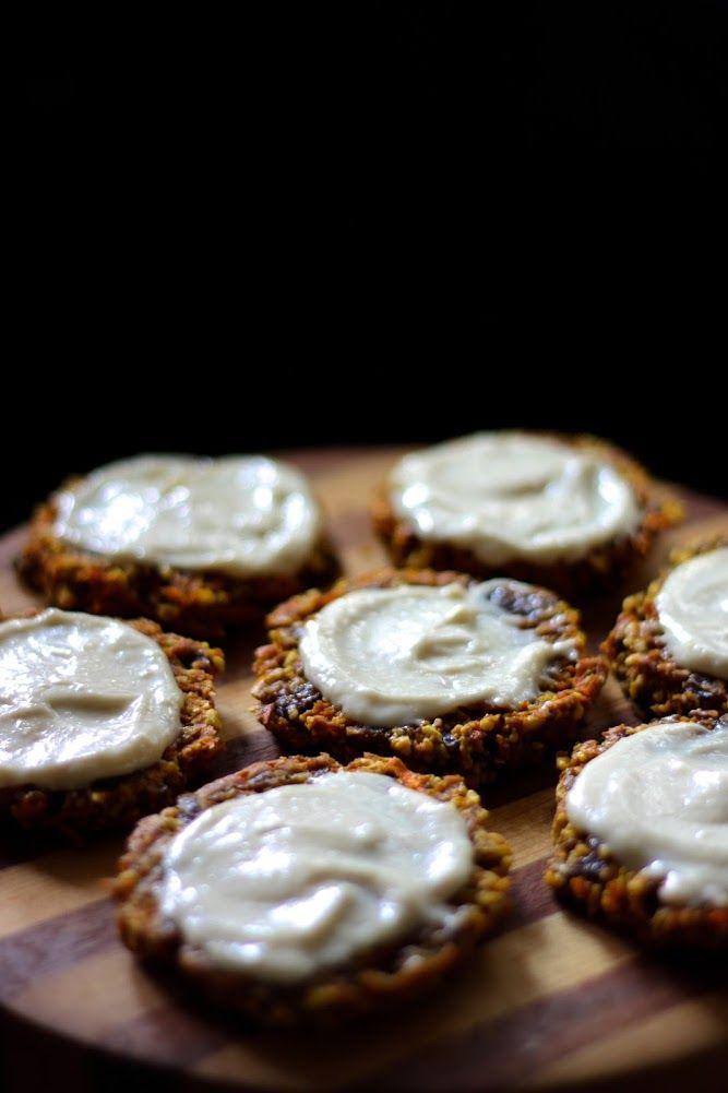 Dessert Recipe: Carrot Cake Cookies #vegan #recipes #healthy #plantbased #glutenfree #whatveganseat #rawfood #dessert