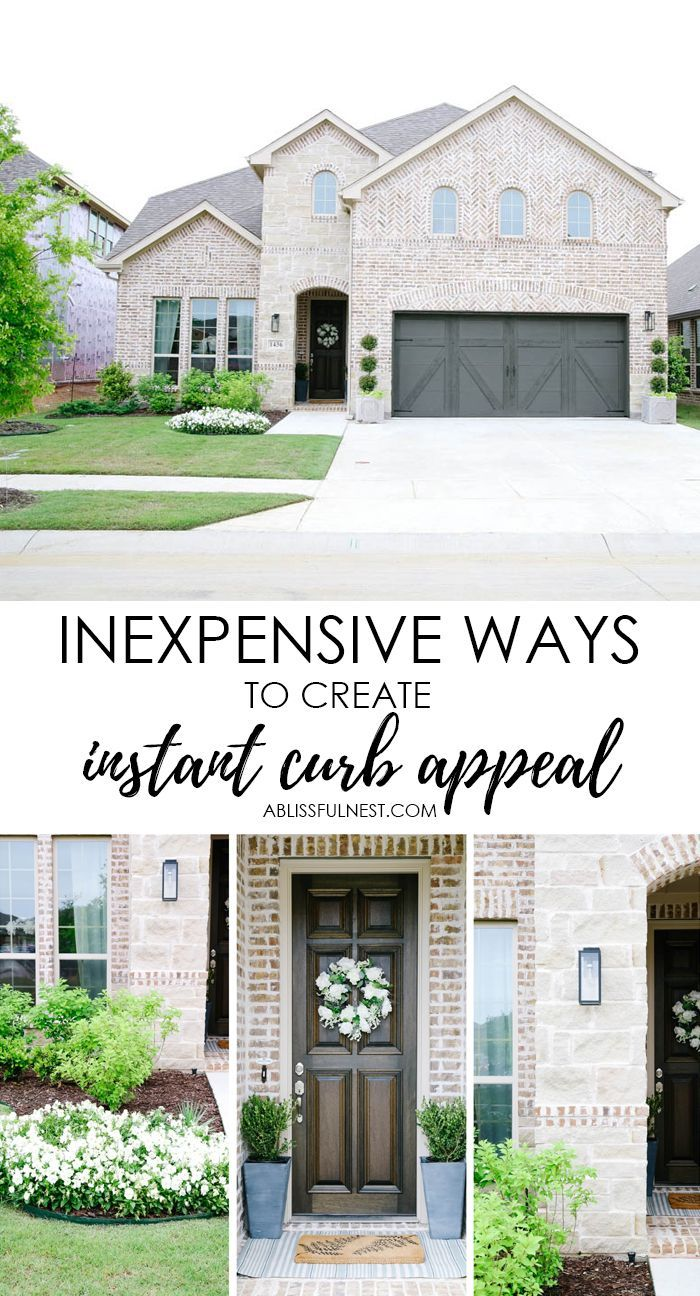 Inexpensive Ways To Create Instant Curb Appeal In 2020 Curb Appeal Front Yards Curb Appeal Outdoor Interior Design