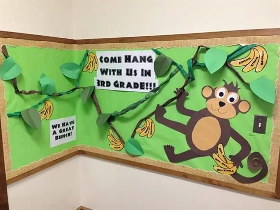 Come Hang With Us Monkey-Themed Bulletin Board Idea