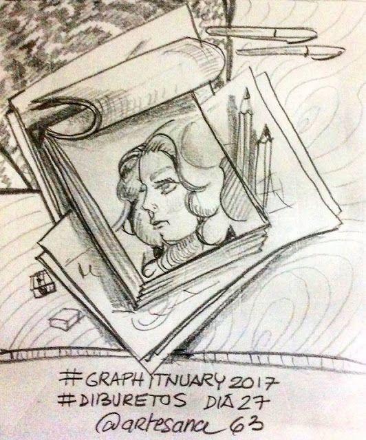 HenArte & TIC's: #graphitnuary2017 #DibuRetosDía 27 Por el placer d...